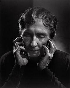 Helen Keller    Photo by Yousuf Karsh