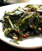Braised collards recipe-- I made this with mustard greens several time this fall. It's a keeper!