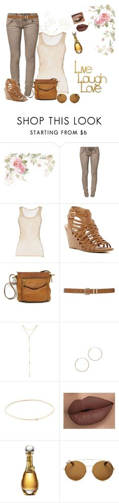 """""""Summer Gold"""" by melissa-markel ❤ liked on Polyvore featuring Replay, American Vintage, Report, M&Co, Fragments, Shashi, Jennifer Meyer Jewelry, Christian Dior, Givenchy and PTM Images"""