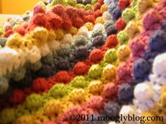 Blackberry Salad Striped Baby Blanket on www.mooglyblog.com