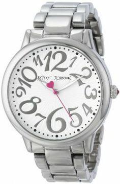 Relógio Betsey Johnson Women's BJ00084-46 Analog Silver Case and Bracelet Watch #Relogios #Betseyjonhson