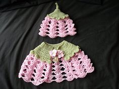Ravelry: Flower Fairy cape and Matching Flower Petal Hat Crochet Pattern pdf 0-6 Years pattern by Beth Kitchin