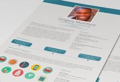 Dive CV/Resume by Desinoir on Creative Market