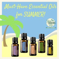 Here are my GO-TO essential oils for Summer! What are some of yours? <3