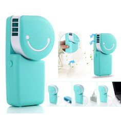 Portable Mini Air Conditioner USB Rechargeable Handheld Desktop Cooling Fan Built-in Battery Euro 12,40