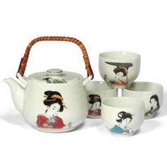 Geisha Japanese Tea Set