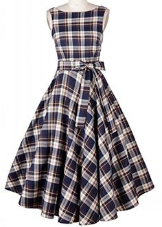 CozyRoom Women's Hepburn Style 1950s Plaid Belted Vintage... https://www.amazon.com/dp/B00Y4H2PQC/ref=cm_sw_r_pi_dp_x_F6MmybBMGG2CR