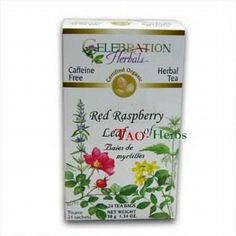 Celebration Herbals Organic Red Raspberry Leaf Tea Caffeine Free -- 24 Herbal Tea Bags ** You can get additional details at the image link.