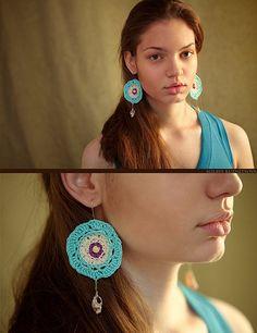 Crochet Dream Catcher Earrings