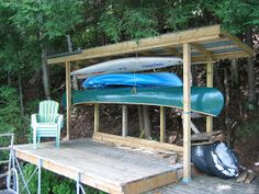 We have had some water toys, namely the canoe, kayak and sailboat for sometime, but no place to store them away safely down at the dock.   W...