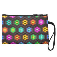 Cute Flower Pattern Suede Wristlet Wallet - girly gift gifts ideas cyo diy special unique