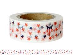 Masking Tape - Washi Tape STARS - ein Designerstück von Fitzi-Floet bei DaWanda
