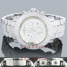 ddeb66f11b6b a 21-carat diamond Joe Rodeo watch  icy Mens Diamond Bracelet, White Gold