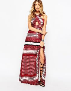 Image 4 ofMissguided Cross Front Maxi Dress