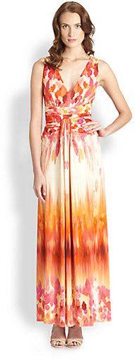 Floral-Print Liquid Jersey Maxi Dress