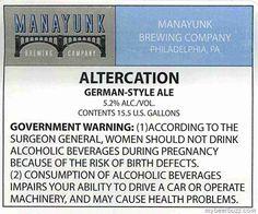 Manayunk Brewing - Altercation, B.L. Barleywine, Abbatia Decem 10, Abbatia Quad 12, The Hive, Charlie Brown & Red Eye