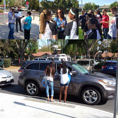 #Pleasanton Middle School students today raised awareness of the harmful effects that car idling has on children and young adults