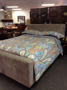 Queen Bed - Grey Platform Bed - $599.95