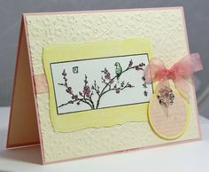 Stampin up - Oriental Paintings. Asian Spring card