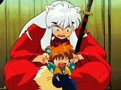 Shippo & Inuyasha lol the best