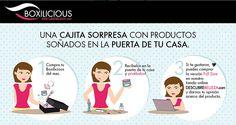 Pasos para comprar Boxilicious. El mejor dato para las Chilenas!  Encuentra Boxilicious en www.descubrebelleza.com