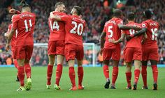 Liverpool turned on the style at Anfield for a second time this season on Saturday, putting five goals past Hull City in their Premier League clash. Fc Liverpool, Liverpool Football Club, Hull City, Steven Gerrard, One Team, Premier League, Soccer, Sports, Instagram