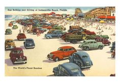 Cars on Beach, Jacksonville, Florida