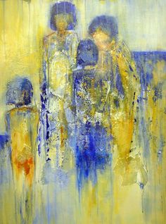 www.ga-abstract.nl Abstract Portrait Painting, Figure Painting, African Paintings, Expressive Art, Abstract Expressionism Art, Art Moderne, Art Abstrait, People Art, Abstract Canvas