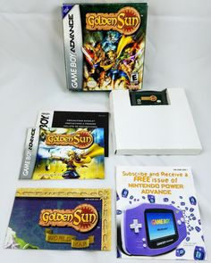 Golden Sun RPG Nintendo Gameboy Advance GBA Complete In Box w/ Map!  ***NICE*** #Nintendo