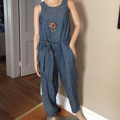 "Gap denim jumpsuit Light and comfy Gap jumpsuit with belt, 25"" in seam GAP Jeans Overalls"