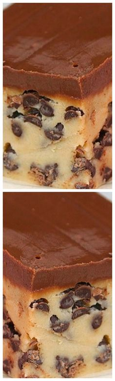 Chocolate Chip Cookie Dough Bars ~ These Are The Best Chocolate Chip Cookie Dough Bars Hands Down!