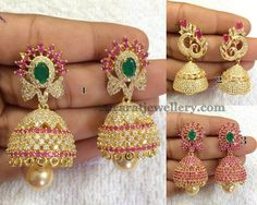 1gram Gold Huge Jhumkas Collection