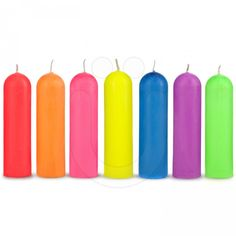 The Bondage Man UV Wax Play Candles Rainbow Pack. Made with all-natural environmentally friendly soybean wax and botanical oils.