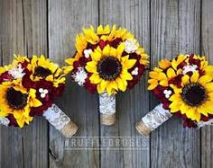 Image result for wedding burgundy and sunflowers