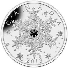 1 oz. Fine Silver Coin - Winter Snowflake - Mintage: 10,000 (2013)