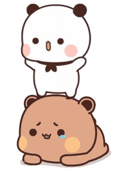 Cute Bear Drawings, Cute Little Drawings, Art Drawings For Kids, Cartoon Drawings, Cute Bunny Cartoon, Cute Cartoon Pictures, Cute Images, Emoji, Emoticon