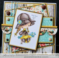 All Dressed Up Digital stamps – Jessie Banks Copics, Digital Stamps, Jessie, I Card, Dress Up, Ink, My Love, Crafts, Flower