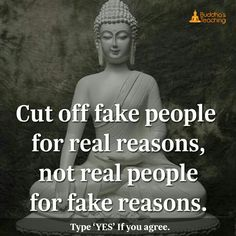Cut off fake People for real reason.