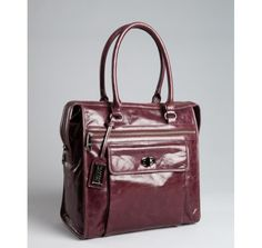 Badgley Mischka aubergine leather 'Angela Shine' shoulder bag - I saw a very similar Badgley Mischka purse at Nordstrom Rack the other day and had a fifteen-minute love affair with it. I actually think I drew the attention of the undercover security guy......