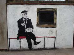 Banksy Museum Guard, Street Art, Highbury London. (Photo by: )