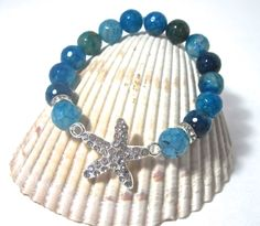 """Starfish Bracelet """" Life is better by the Sea """" by Themejewelryandacces on Etsy"""