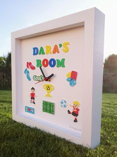 Personalized Clocks, Clock For Kids, Childrens Gifts, Toy Chest, Toys, Handmade, Home Decor, Activity Toys, Hand Made