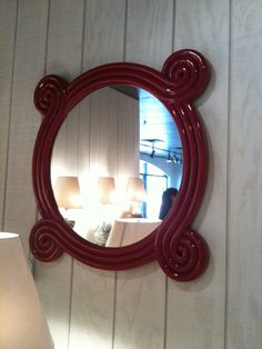 Walking into BeeLine Home I squealed with delight as I saw this Ohm Mirror from Bunny Williams. The sleek red lacquer finish would be a great focal point for most rooms! 310 N Hamilton St Market Trends, High Point Market, Interior Design Business, Hamilton, Mirrors, My House, The Neighbourhood, Bunny, Walking