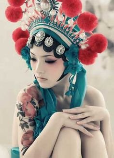 headpiece with Pom poms