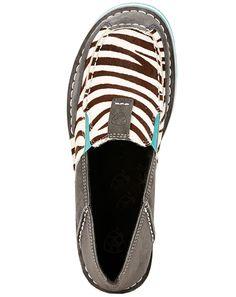 Ariat Women's Cruiser Zebra Slip-On Shoes - Grey