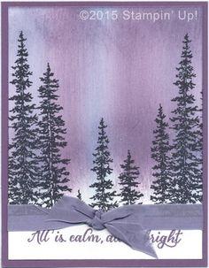Stampin' Up! Christmas Cards - Wonderland stamp set, sponging, Dazzling Diamonds Glitter
