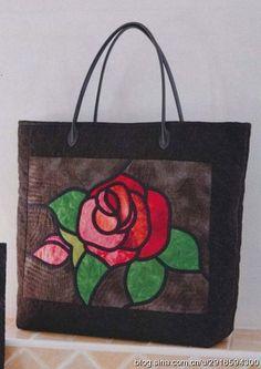 【影子手绘】玻璃彩绘36玫瑰手提包图纸: