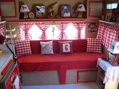Red cowgirl vintage trailer