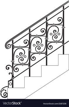 Staircase Railing Design, Modern Stair Railing, Wrought Iron Stair Railing, Balcony Railing Design, Iron Staircase, Metal Stairs, Metal Railings, Modern Stairs, Balustrade Balcon