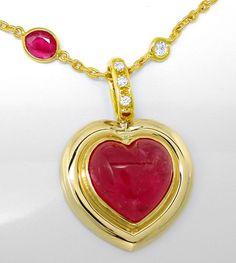 Foto 2, Diamant Turmalin Rubine Handarbeits Kollier Luxus! Neu!, S8928